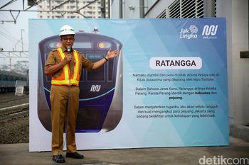 Sah! Anies Resmikan Kereta MRT Fase I dengan Nama 'Ratangga'