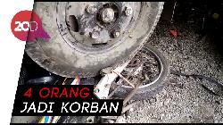 Tertangkap Kamera! Truk Nyelonong ke Parkiran RS di Brebes