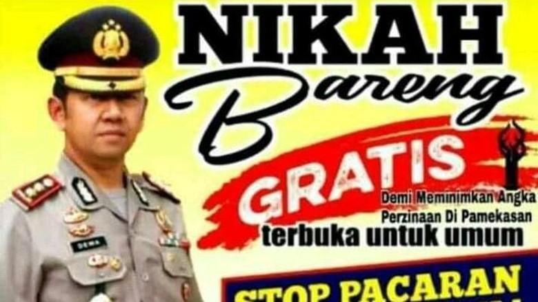 Foto Kapolres Nganjuk Dicatut untuk Poster Hoax Nikah Bareng