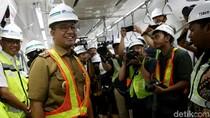 Wajah Semringah Anies Cek Proyek MRT Jakarta