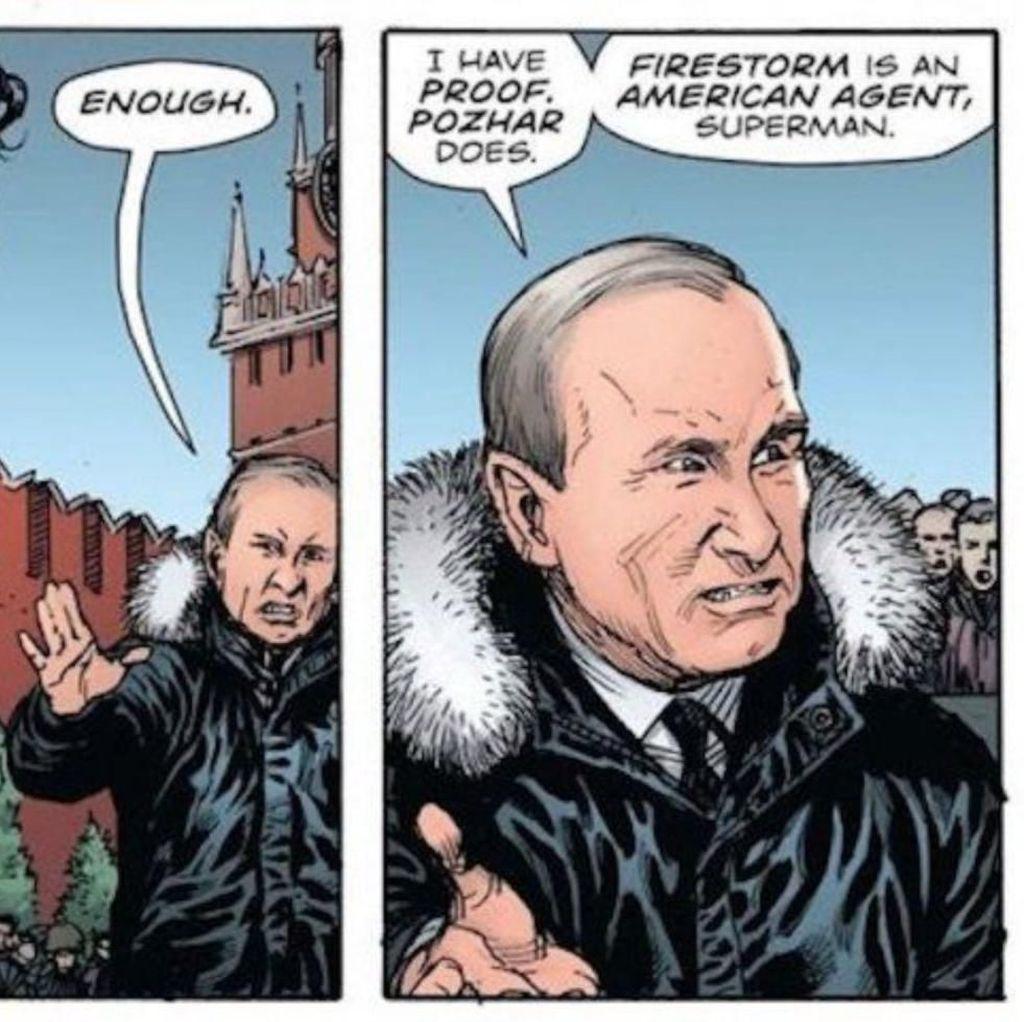 Ada Vladimir Putin di Komik Superman dan Batman