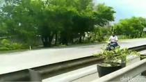 Siapa Pemotor Gila yang Nyelonong Lawan Arus di Tol Porong?