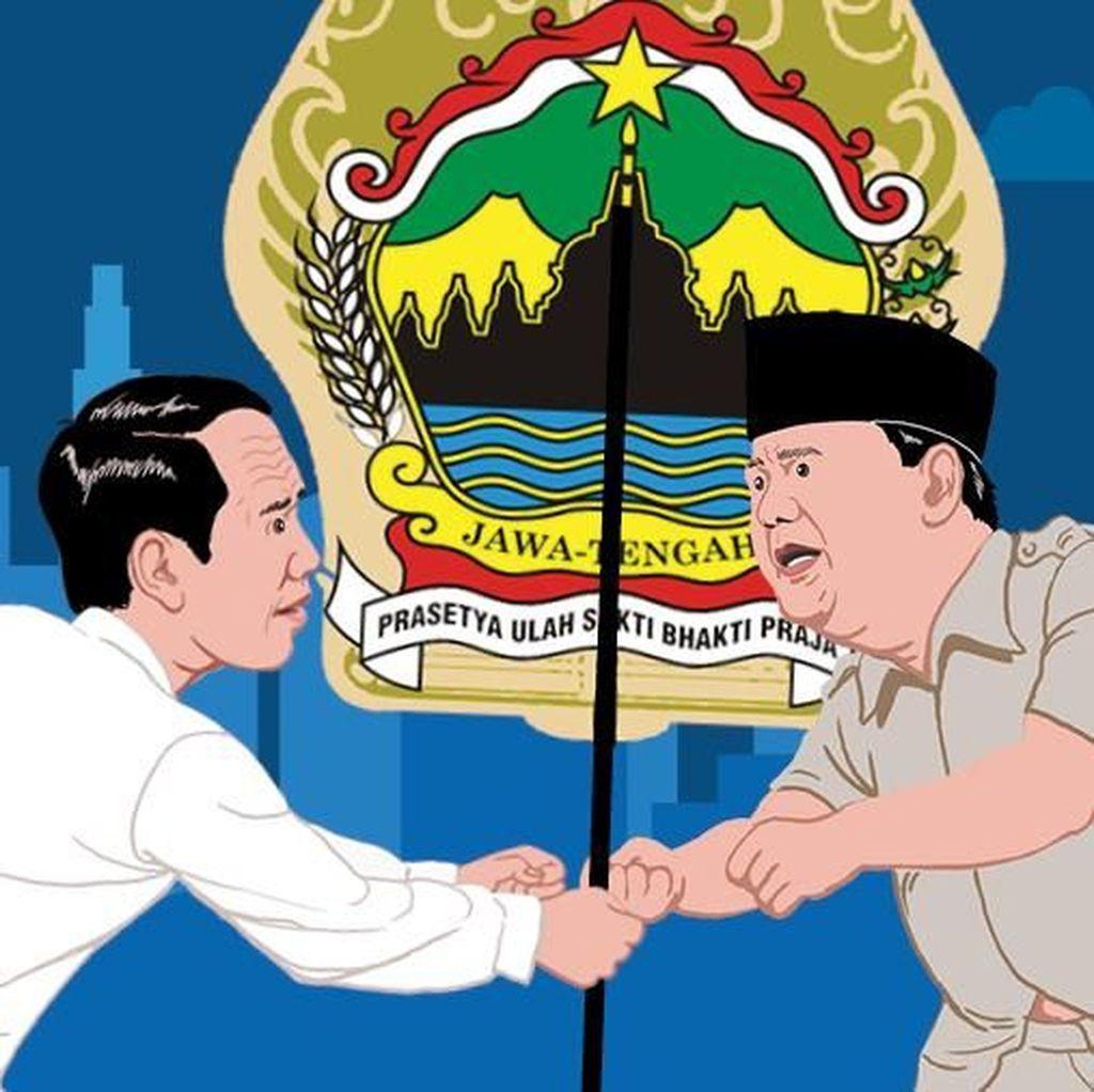 Kekuatan dan Jejak Pertarungan Jokowi Vs Prabowo di Jawa Tengah