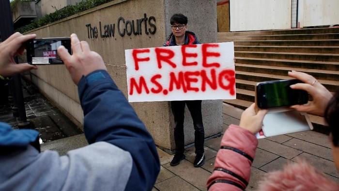 Bos Huawei Meng Wanzhou kini berstatus tahanan rumah. (Foto: REUTERS/David Ryder)