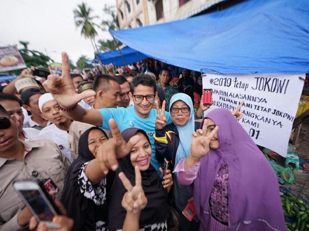 Respons Sandiaga Saat Diusir Pendukung Jokowi