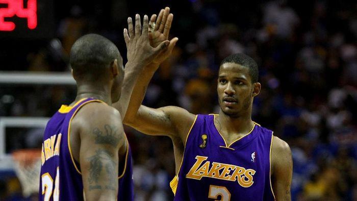 Trevor Ariza saat masih main di LA Lakers pada 2009  (Elsa/Getty Images)