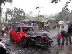 Penampakan Mobil yang Terlibat Tabrakan Maut di Garut
