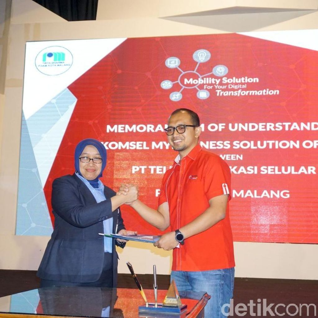 PDAM Kota Malang Gandeng Telkomsel Dukung Transformasi Digital