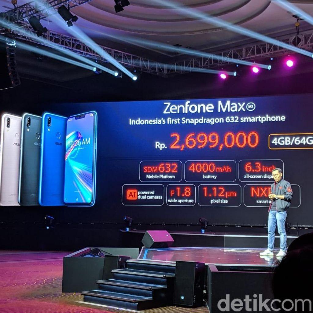 Resmi Dirilis, Berapa Harga Zenfone Max Pro M2 dan Max M2?