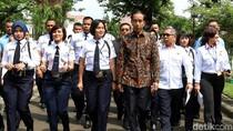 Saat Ratusan Satpam Masuk Istana dan Bertemu Jokowi