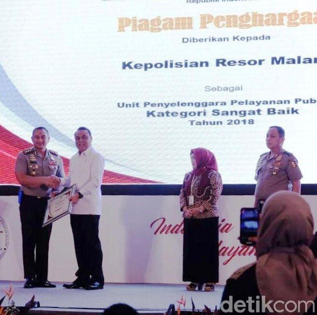 Polres Malang Raih Dua Penghargaan dari KemenPAN-RB