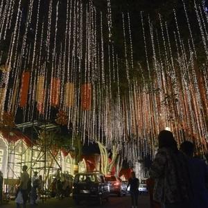 Foto: Dekorasi Meriah di Rumah Anak Orang Terkaya Se-Asia Jelang Pernikahan