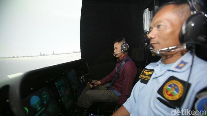 Simulasi penerbangan di Lakespra (Foto: Agung Pambudhy/detikcom)