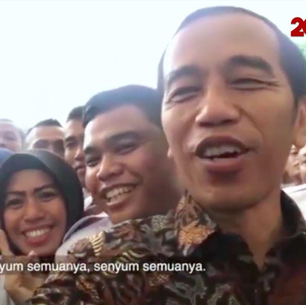 Video: Cerianya Para Satpam Diajak Nge-Vlog Jokowi di Istana