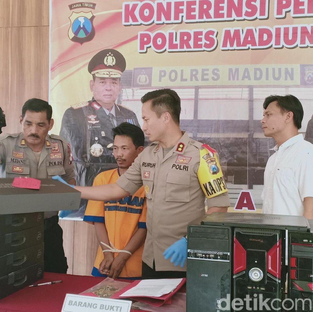 Berdalih Perbaiki Rumah, Warga Jakarta Curi Komputer di 5 Kota Jatim
