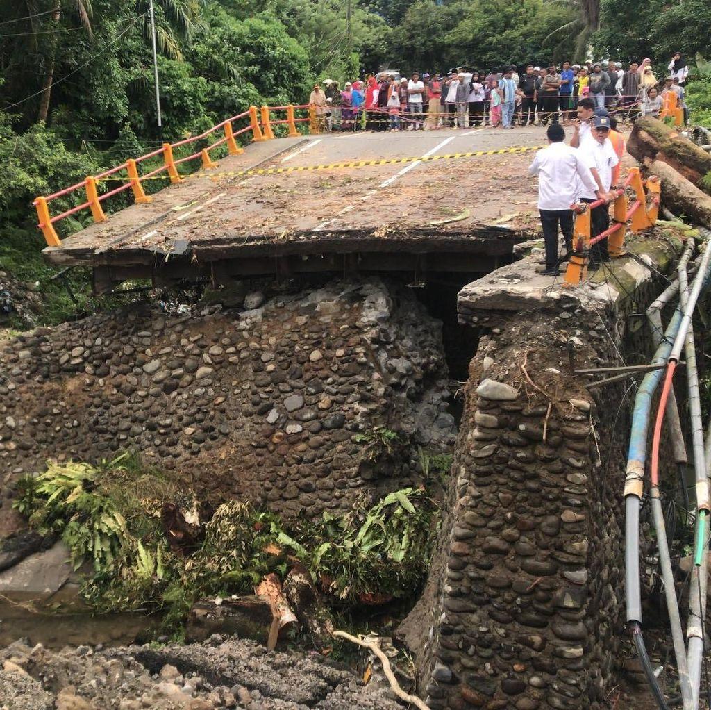 Jalan Padang-Bukittinggi Terputus, Jembatan Darurat Dikebut