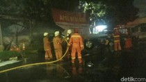 Kebakaran di Polsek Ciracas, 4 Unit Damkar Dikerahkan