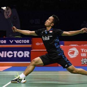 Anthony Dikalahkan Chou Tien Chen Lewat Duel Tiga Gim