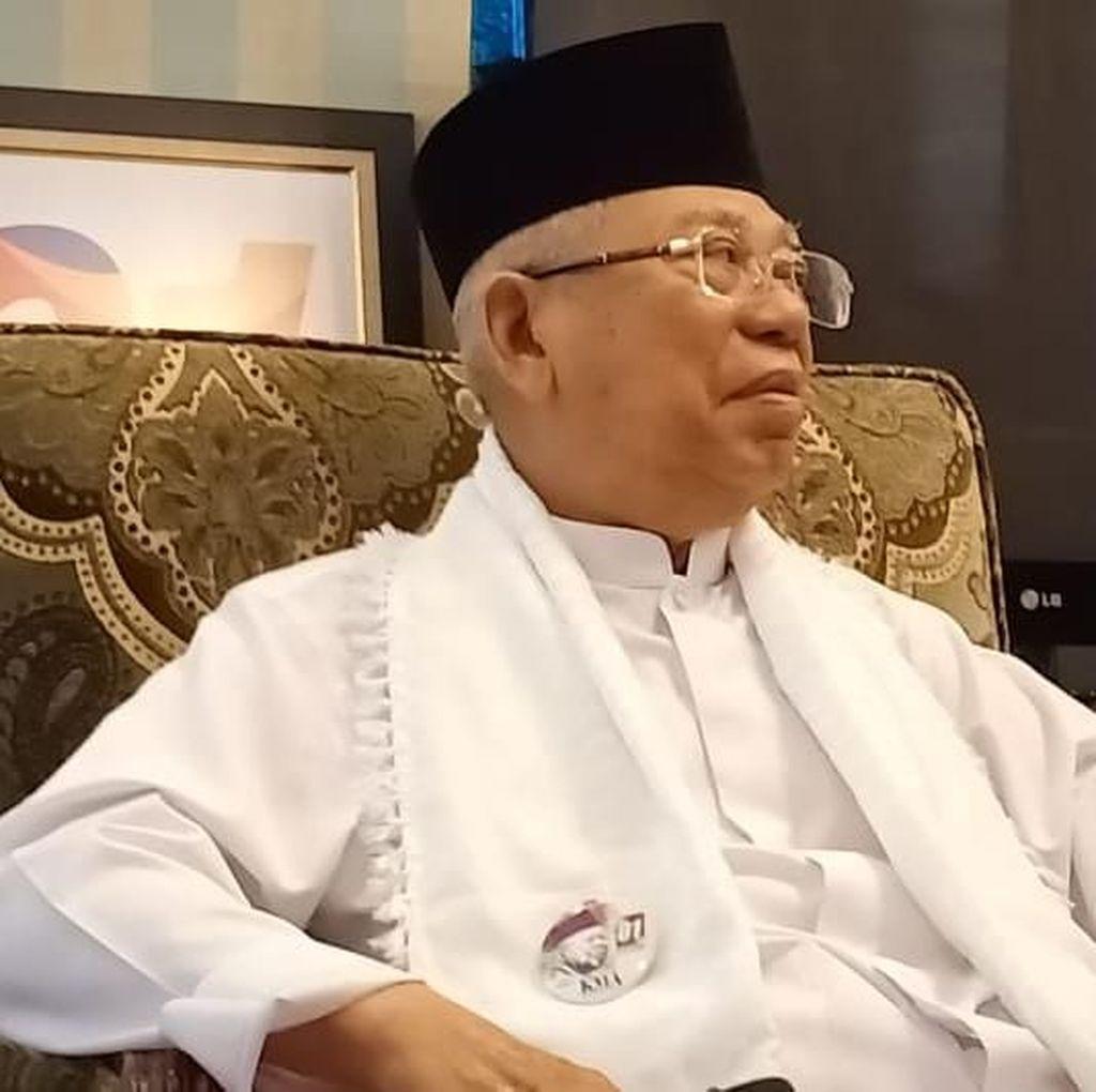 Maruf Amin Siap Jalani Debat Capres-Cawapres Pertama