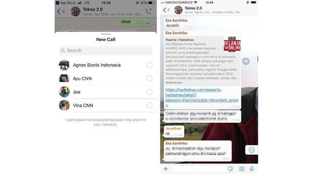 Whatsapp Sediakan Tombol Group Call untuk iOS