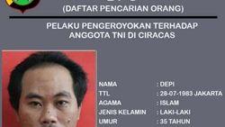 Ini Tampang Depi, Buron Pengeroyok Anggota TNI di Ciracas