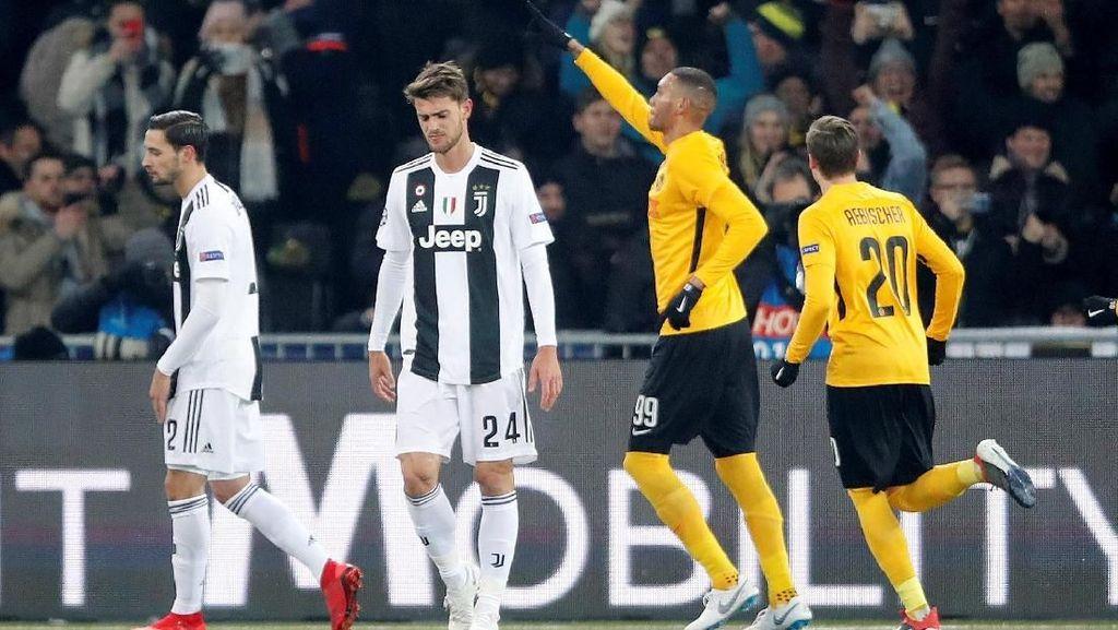 Hasil Liga Champions: Meski Dikalahkan Young Boys, Juve Kunci Juara Grup H