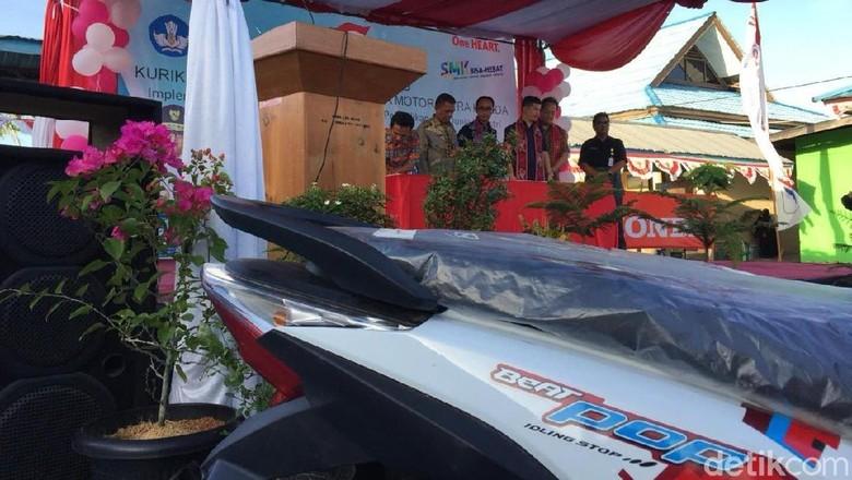2 motor Honda untuk SMK Foto: Dadan Kuswaraharja/detikOto