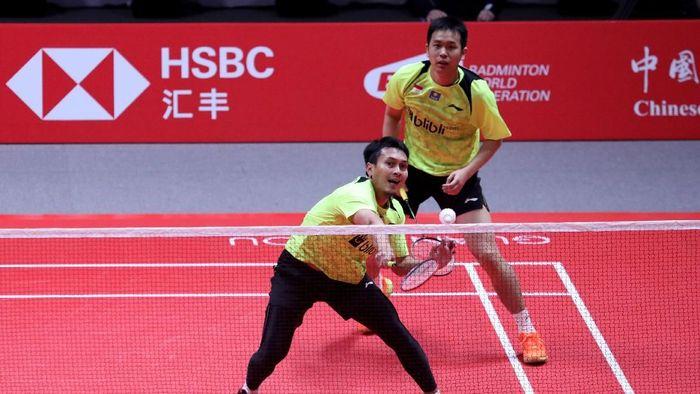 Hendra Setiawan/Mohammad Ahsan juga tersingkir di babak grup BWF World Tour Finals (Foto: dok. Humas PBSI)