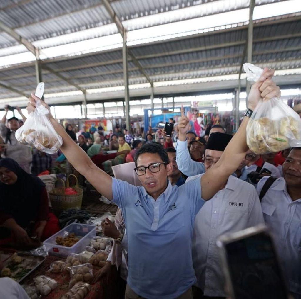 Di Pasar Purwokerto, Sandi Dicurhati Soal Listrik Naik