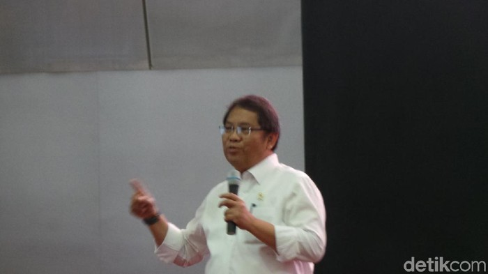 Menkominfo Rudiantara. Foto: Danang Sugianto/detikFinance