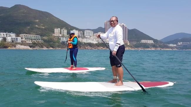 Dirut BPJS TK Paddling saat di Hong Kong/Foto: Dok BPJS Ketenagakerjaan