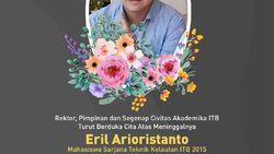 Adik Bupati Emil yang Meninggal Dalam Kamar Kuliah di ITB