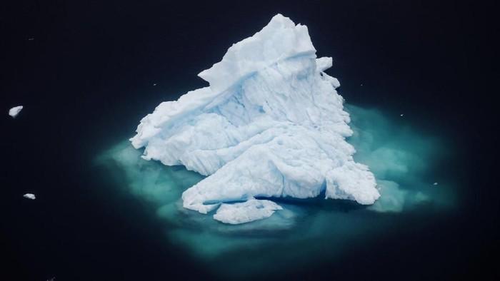 Penampakan salah satu lapisan es di Arktik pada Juni 2018 Foto: Dok. REUTERS/Lucas Jackson