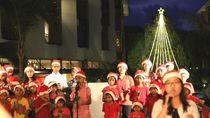 Sambut Natal, The Trans Resort Bali Pasang Pohon LED Tertinggi