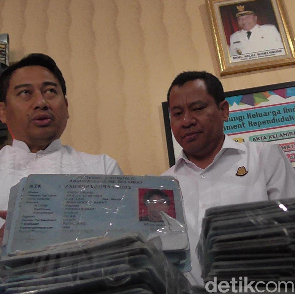 Cegah Penyalahgunaan, 2.078 KTP di Gorontalo Dimusnahkan