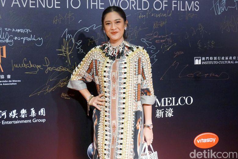 Dian Sastrowardoyo saat menghadiri acara Film Festival Macau 2018 di Macau pada Rabu (12/12).