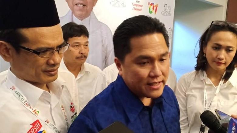 Erick Thohir: Kalau di TKN Jokowi Ada yang Sebar Fitnah, Tangkap!