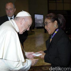 Komentar Susi Usai Berdialog dengan Paus