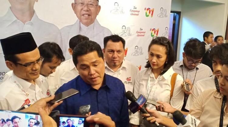 Sindir Kubu Sandi, Erick Thohir: Bedakan Pemilu dan Sinetron