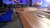 Tumpahan Cokelat Bikin Jalanan di Jerman Berubah Jadi Sungai