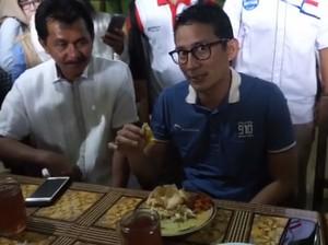Habis Lari 10 KM, Sandiaga Uno Sarapan Lontong Opor di Cilacap