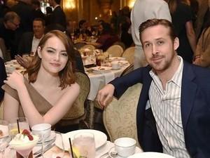 Keseruan Emma Stone Saat Makan Bareng Ryan Gosling dan Andrew Garfield