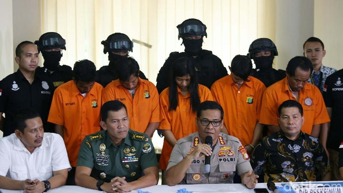 Konferensi pers terkait pengeroyokan anggota TNI (Agung Pambudhy/detikcom)