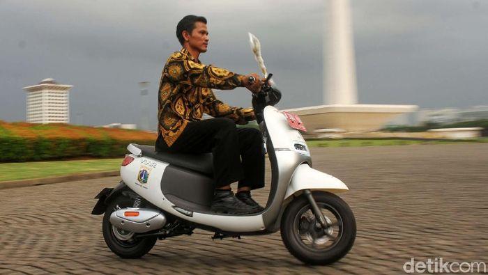 Pemprov DKI Jakarta mendapatkan hibah 50 motor listrik/Foto: Rifkianto Nugroho