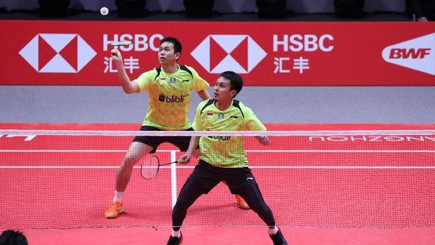 Mohammad Ahsan/Hendra Setiawan sempat tampil bagus di awal pertandingan.