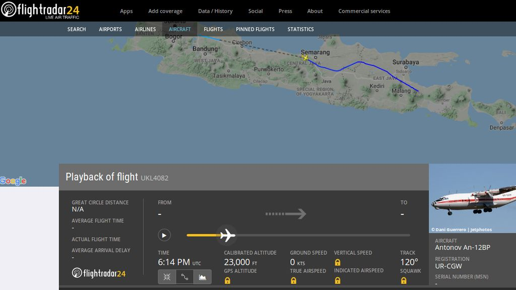 Tentang Antonov An-12BP yang Diduga Sumber Suara Misterius di Pantura