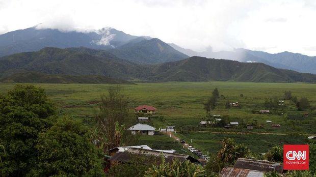 Pemandangan Distrik Kamu, Kabupaten Dogiyai