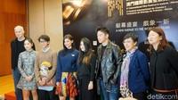 Iqbaal Ramadhan bersama para nominasi Asian Star: Up Next di Festival Film Macau, di Macau Cultural Centre pada Jumat (14/12) waktu setempat.