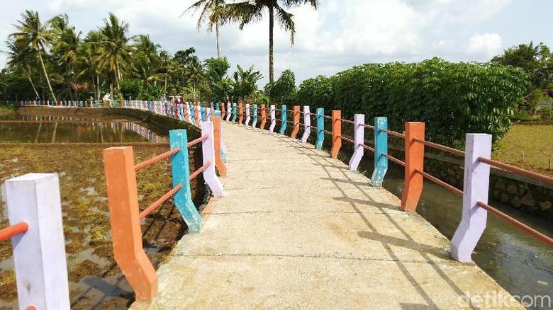 Jalan Pelangi di Kabupaten Ciamis (Dadang Hermansyah/detikTravel)