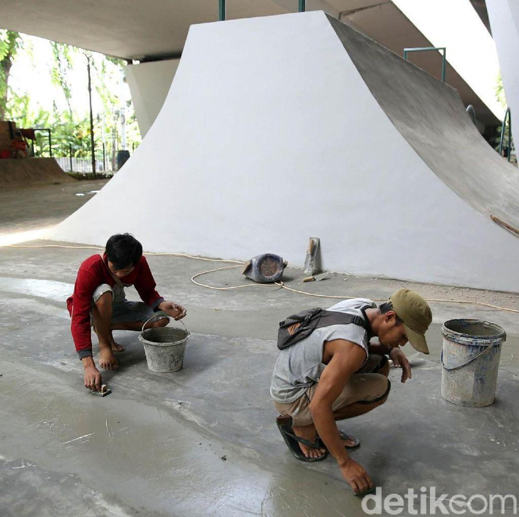Keren! Kini Flyover Slipi Dilengkapi Skatepark